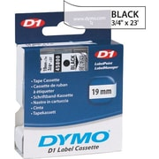 "DYMO 3/4"" D1 Label Maker Tape, Black on Clear"