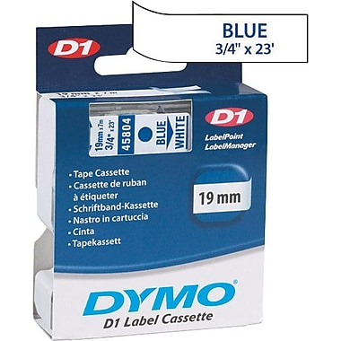 DYMO 3/4in. D1 Label Maker Tape, Blue on White