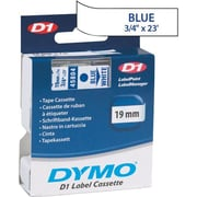 "DYMO 3/4"" D1 Label Maker Tape, Blue on White"