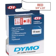 DYMO 3/4 D1 Label Maker Tape, Red on White