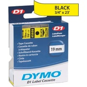 "DYMO 3/4"" D1 Label Maker Tape, Black on Yellow"