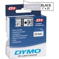 DYMO 1in. D1 Label Maker Tape, Black on Clear