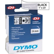 "DYMO 1"" D1 Label Maker Tape, Black on Clear"