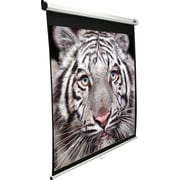 "Elite Screens Manual Series 71"" Manual Wall / Ceiling Mount  Projector Screen, 1:1, White Casing"