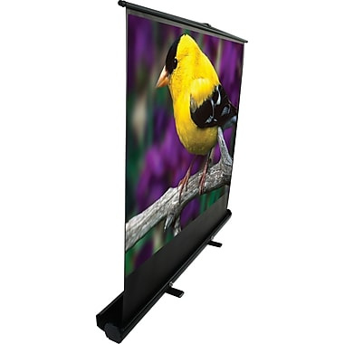Elite ezCinema 84in. Portable Floor Pull Up Projector Screen, 16:9, Black Casing