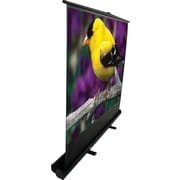 "Elite ezCinema 84"" Portable Floor Pull Up Projector Screen, 16:9, Black Casing"