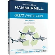 HammerMill® Great White Copy Paper, 8 1/2 x 11, Ream