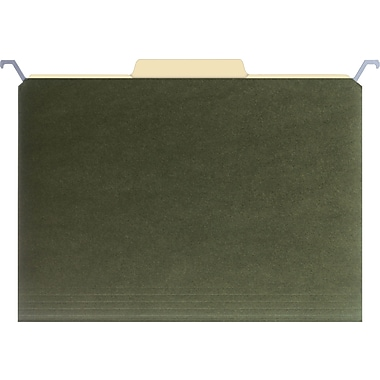 Find It® Hanging File Folders, Letter, 5 Tab, Green, 20/Box