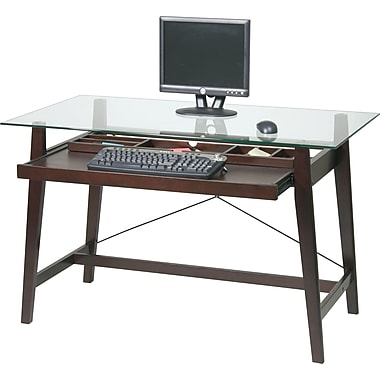 Office Star TRI2542G Tool-less Tribeca Computer Desk, Espresso