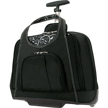 Kensington® Contour™ Balance Laptop Case Roller, Black, 15.4in.