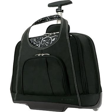 Kensington® Contour™ Balance Laptop Case Roller, Black, 15.4in.