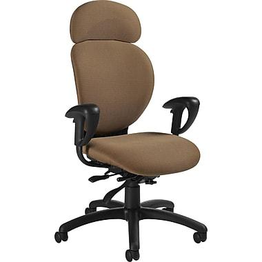 Global® Azeo High-Back Multi-Tilt Chair, Clay