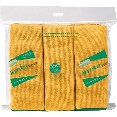 WYPALL Microfibre Cloths, Yellow, 6-Pack