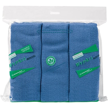 WYPALL Microfibre Cloths, Blue, 6-Pack