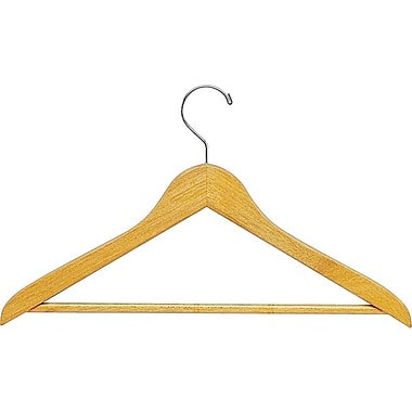 Quartet® Garment Hanger. Natural Wood