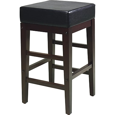 Office Star - Tabouret carré de 25 po, fini espresso