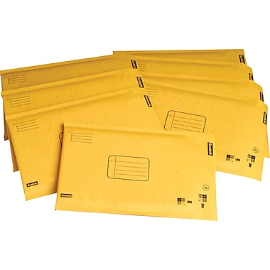 Scotch™ Kraft Bubble Mailers, Pull-Tab Strip, 48/Box