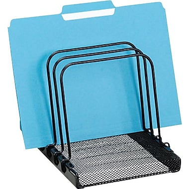 Rolodex™ Metal Mesh Flip Document Sorter, Black