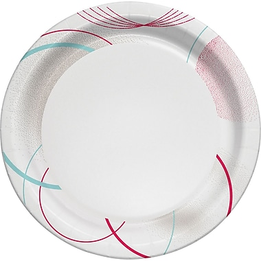 Staples Paper Plates, 7in., Design Pattern, 50/Pack