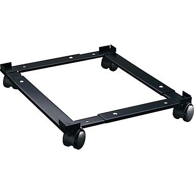 Hirsh Adjustable Rolling File Caddy, Black