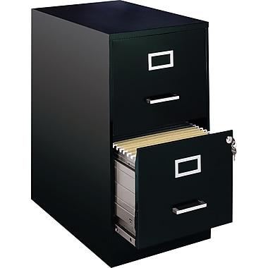 Hirsh – Classeur vertical de 22 po de profond., format lettre, 2 tiroirs, noir