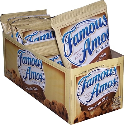Famous Amos Chocolate Chip Cookies 2 oz. Bags 8 Bags Box