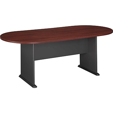 Bush Cubix Racetrack Conference Table, Hansen Cherry and Graphite Gray