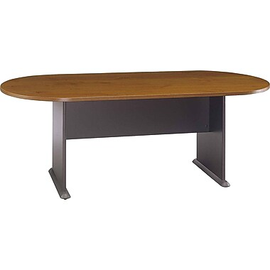 Bush® Westfield Collection Racetrack Conference Table, Warm Oak
