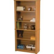 Bestar Embassy Collection Modular Bookcase, 5-Shelf, Cappuccino Cherry