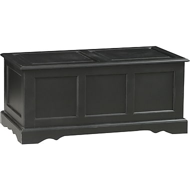 Carolina Cottage Storage Chest, Antique Black