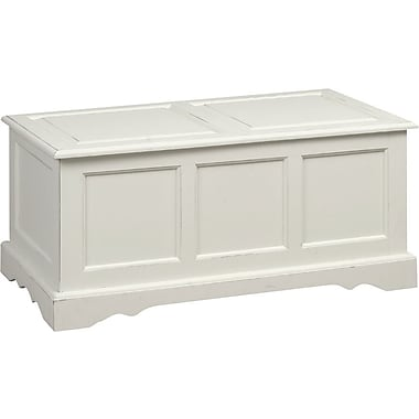 Carolina Cottage Storage Chest, Antique Ivory Finish