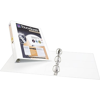 4in. Avery® TouchGuard™ Antimicrobial View Binders with Slant-D Rings, White