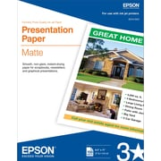 Epson® Photo-Quality Inkjet Paper, Matte, 8 1/2 x 11, 100/Pack