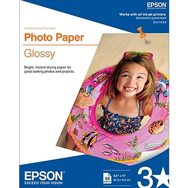 Epson® Glossy Photo Paper, 8 1/2in. x 11in.,  50/Pack