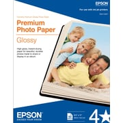"Epson® Premium Photo Inkjet Paper, 8 1/2"" x 11"", High Gloss, 50/Pack"