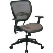 Office Star SPACE Mesh Managers Office Chair, Adjustable Arms, Latte (55-88N15)