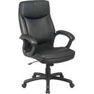 Office Star™ Bonded Leather Executve High-Back Chair, Black