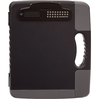 OIC® Portable Clipboard Storage Case with Calculator Clip, Charcoal, 11 3/4in. x 14 1/2in. x 1 1/2in.