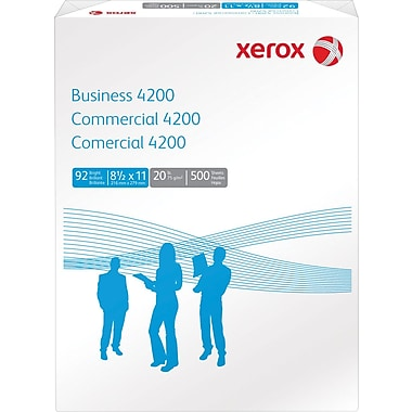 Xerox Business 4200 Copy Paper, 8 1/2in. x 11in., Ream