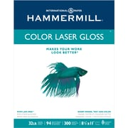 "Hammermill® Color Laser Gloss Paper, 8-1/2"" x 11"", Ream"