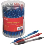 Staples Retractable Ballpoint Pens, Medium Point, Assorted Colors, 50/Pack (22010/36747)