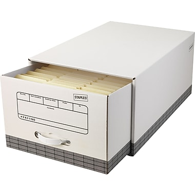 Staples® EZ Fold File Drawers, Legal-Size