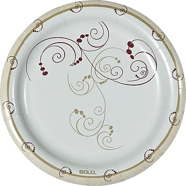 SOLO® Symphony Medium Weight Paper Plates, 8 1/2in., 125/Pack