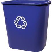Rubbermaid® 2955-73 Deskside Recycling Container With Recycle Symbol, Medium, 13 5/8 qt