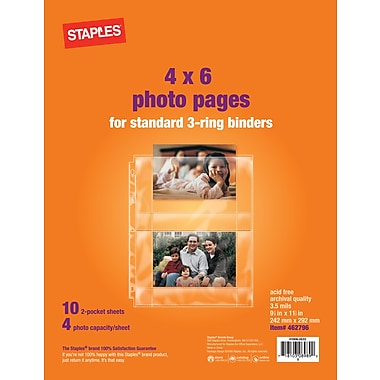 Staples 4in. x 6in. Horizontal Photo Pages