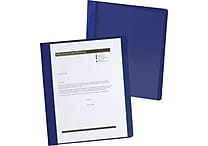 Oxford® Extra-Wide Clear Front Report Cover, Letter Size, Dark Blue