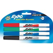 Expo Low-Odor Fine Point Dry-Erase Marker, Assorted, 4/Pack (86674)