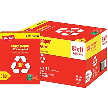 Staples® 30% Recycled Copy Paper