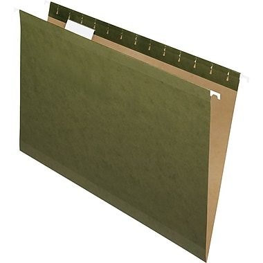 Pendaflex® Reinforced Hanging File Folders, 5 Tab Positions, Legal Size, Standard Green, 25/Box (4153 1/5)