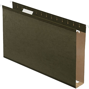 Pendaflex Box-Bottom Hanging File Folders, Legal, 2in. Capacity, Standard Green, 25/Box